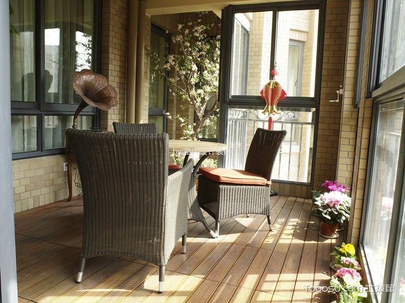 阳台米色地板砖美式风格装饰效果图