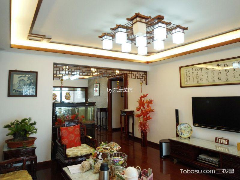 客厅 吊顶_12万预算120平米楼房装修效果图