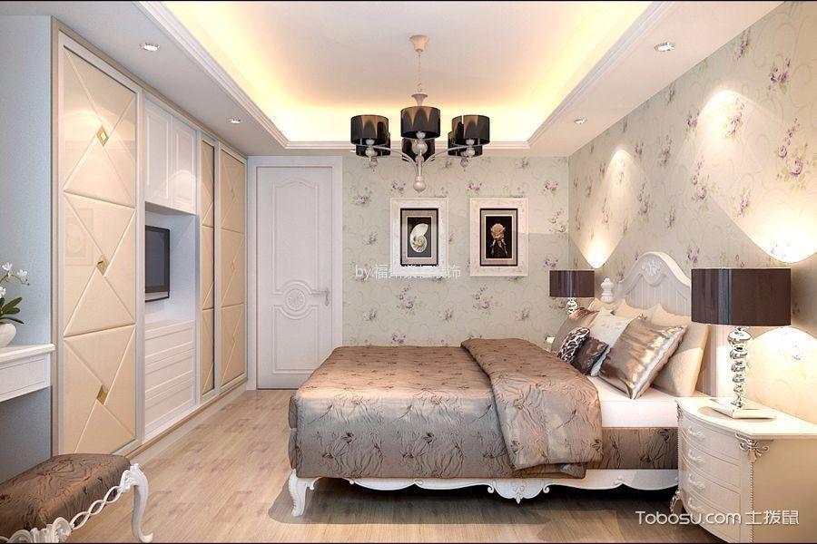 卧室 背景墙_50万预算300平米别墅装修效果图