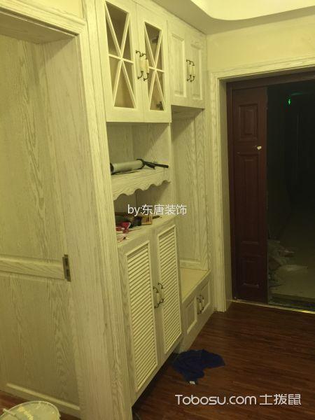 玄关白色鞋柜美式风格装修设计图片