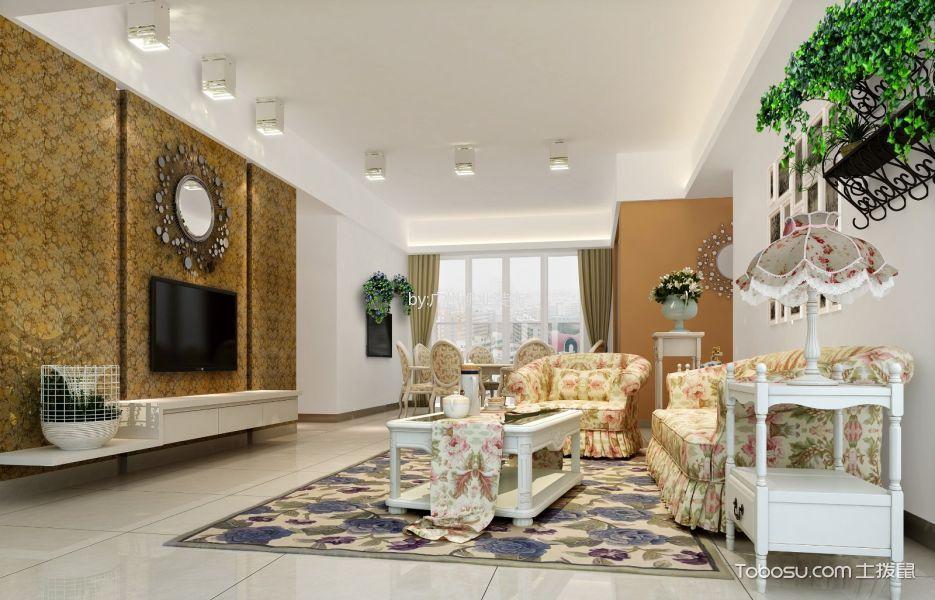 25万预算120平米三室两厅装修效果图