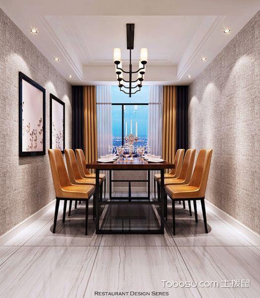 6.8万预算120平米三室两厅装修效果图