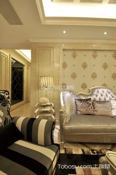 客厅黄色细节欧式风格装修设计图片