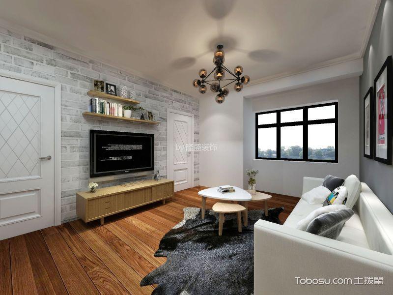 2.2万预算90平米两室两厅装修效果图