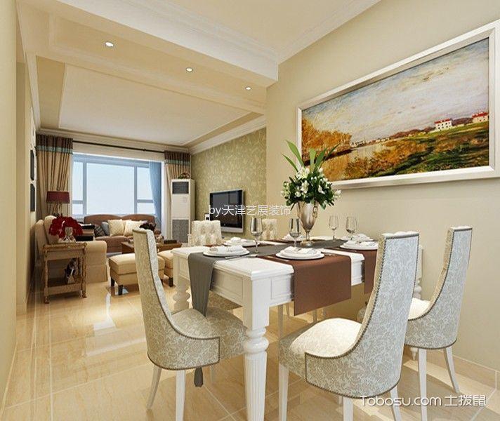 厨房白色餐桌现代风格装修图片