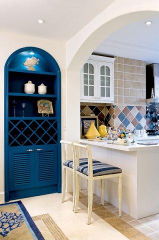 厨房门厅地中海风格装修设计图片