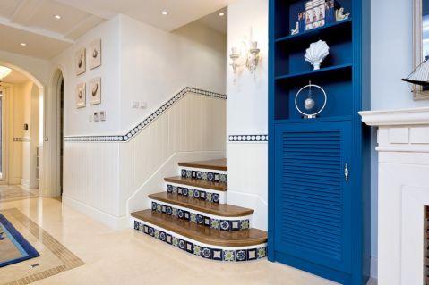 客厅楼梯地中海风格装饰设计图片