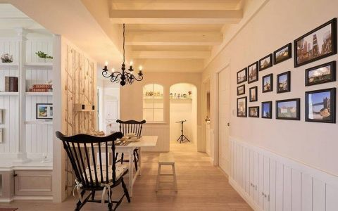 餐厅照片墙法式风格装饰设计图片