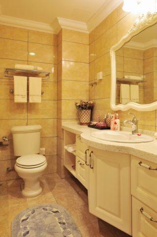 卫生间背景墙新古典风格装潢图片