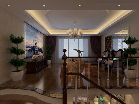 客厅窗帘简欧风格装修效果图