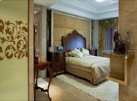 卧室背景墙欧式风格装修图片