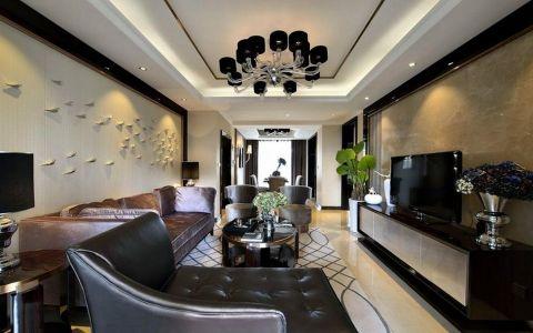 客厅电视柜简欧风格装潢图片