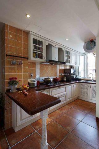 厨房背景墙美式风格装饰设计图片