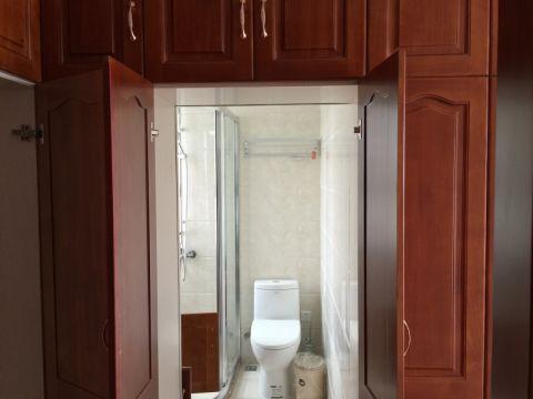 卫生间背景墙简欧风格装潢图片