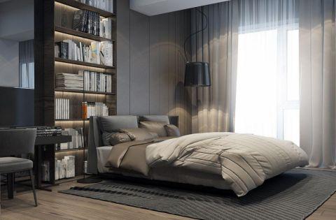 卧室窗帘现代风格装修图片