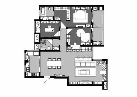 时代上城运河人家现代简约3居室