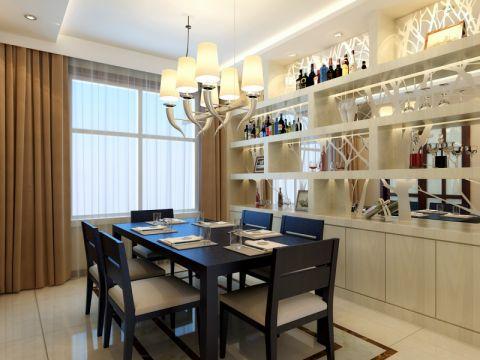 餐厅窗帘简约风格装饰效果图
