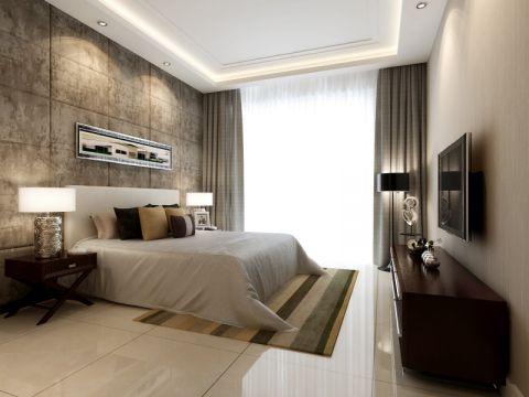 卧室背景墙简约风格装修图片