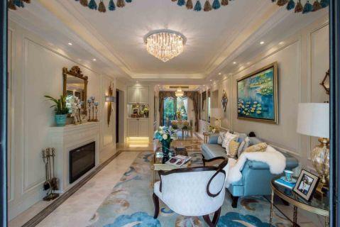 白金汉宫三居室美式装修效果图