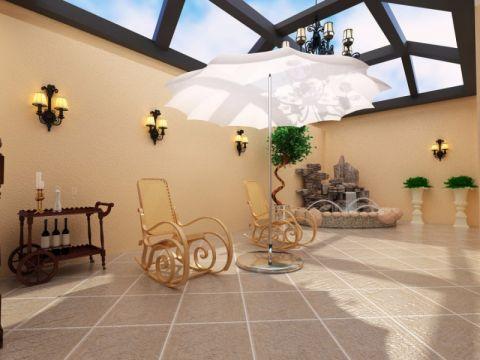 花园背景墙混搭风格装饰设计图片