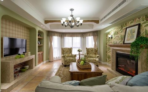 檀香湾两居室美式装修效果图