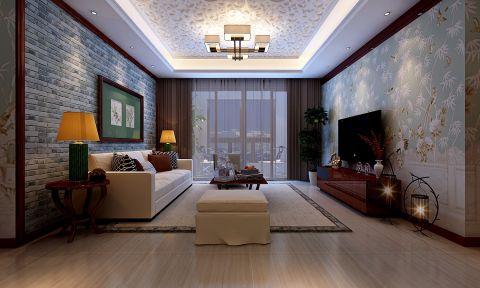 客厅窗帘简中风格装修效果图