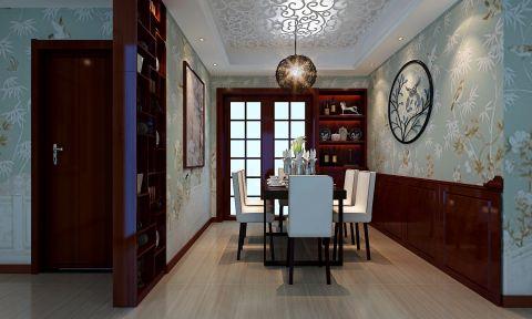 餐厅背景墙简中风格装饰效果图