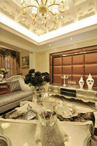 客厅窗帘欧式风格装饰设计图片