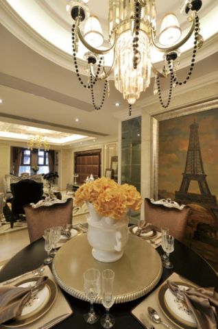 餐厅背景墙欧式风格效果图