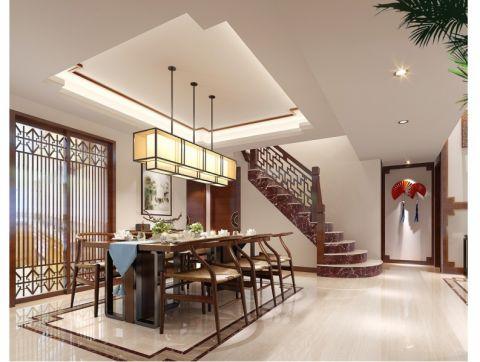 餐厅楼梯新中式风格装修图片