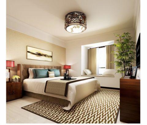 卧室飘窗新中式风格装饰设计图片