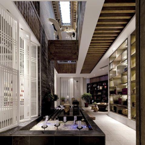 客厅推拉门新中式风格装饰设计图片