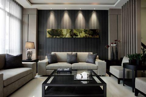 公园世家现代三居室风格效果图