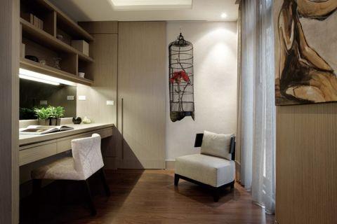 书房背景墙现代风格装饰设计图片