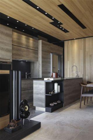厨房背景墙新中式风格装修图片