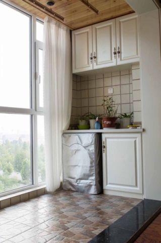 阳台背景墙混搭风格装修设计图片