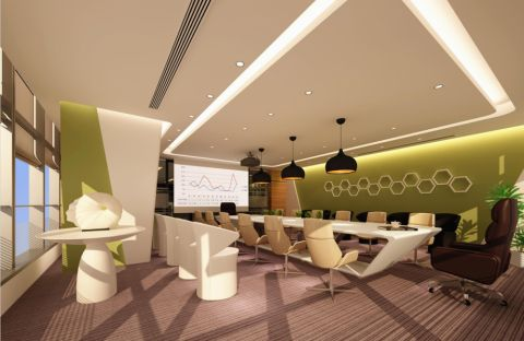 南方投资公司办公室装饰效果图