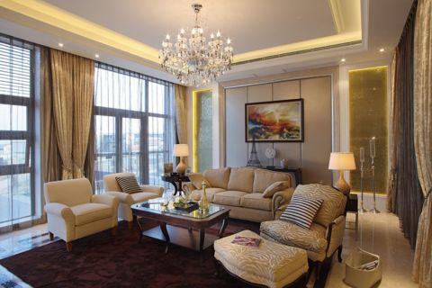 交通紫园现代美式风格四居室效果图