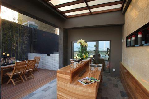 客厅吧台美式风格装修图片