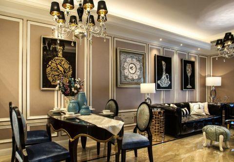 餐厅背景墙欧式风格装修效果图