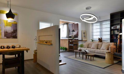 客厅白色隔断现代风格效果图