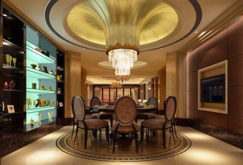 餐厅吊顶混搭风格装饰设计图片