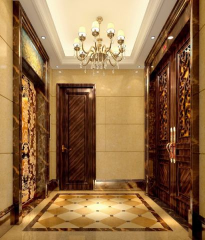 玄关走廊混搭风格装潢效果图