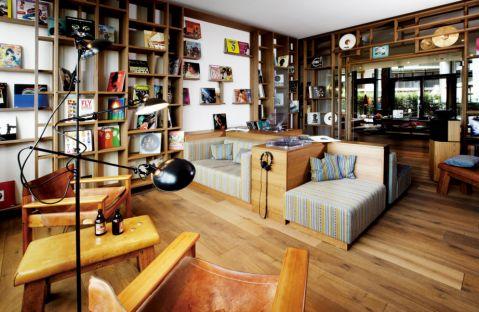 书房隔断混搭风格装潢效果图