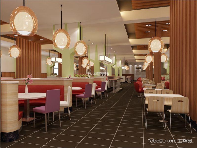 企业高级餐厅用餐区装潢实景图