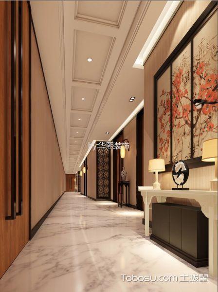 企业高级餐厅过道装饰设计图片
