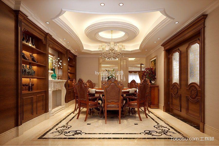 餐厅米色地砖美式风格效果图