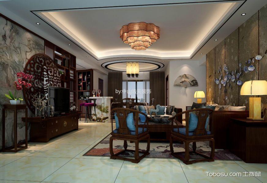 客厅 背景墙_15万预算160平米四室两厅装修效果图
