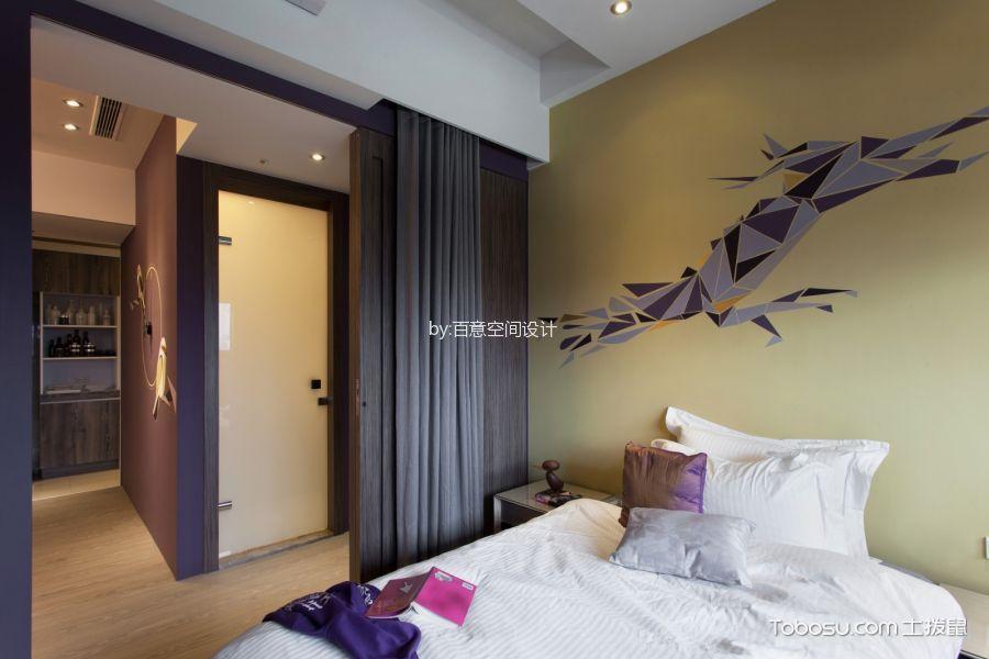 卧室咖啡色隔断混搭风格装潢效果图