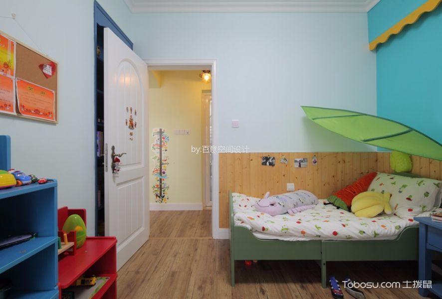 儿童房彩色床混搭风格效果图